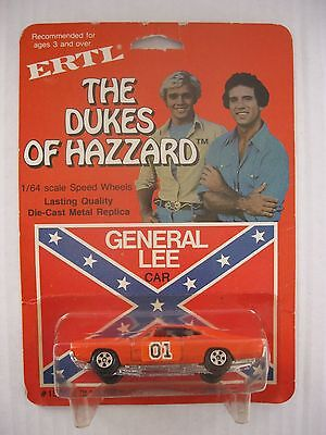 Vintage 1981 ERTL The Dukes Of Hazzard General Lee Car Sealed 1/64