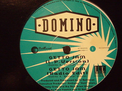 "DOMINO - GETTO JAM b/w JAM (12"")  1993!!!  RARE!!!"