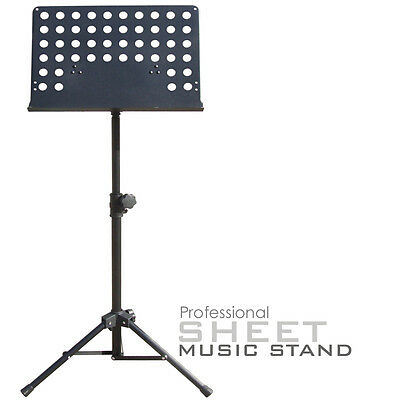 1 Heavy Duty Foldable Orchestral Sheet Music Stand Holder Adjustable Tripod Base
