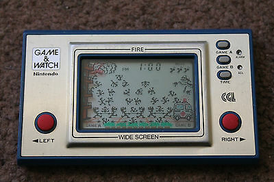 Rare Nintendo Game & Watch Fire Fr-27 1981 Very Good Working Condition