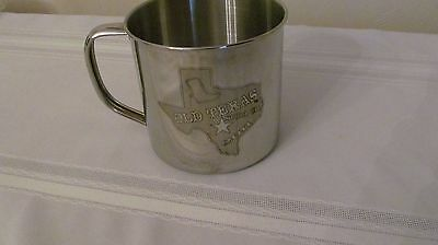 """Wow! Stainless """" Old Texas Soda Co. 2011"""" Cup/mug  Free Shipping"""