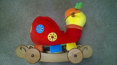 Mamas And Papas Talking Lotty Babyplay Rock And Ride Ride On Toy Wooden