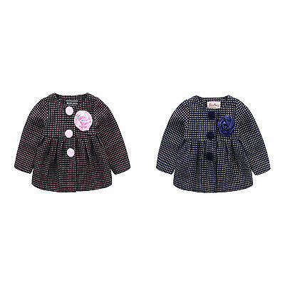 Baby Girls Woven Fully Lined Winter Coat Jacket Outwear in Pink Navy SIZE 1-8