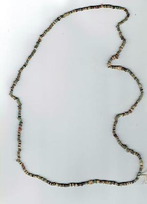 Authentic Egyptian Faience  Strung Necklace Of 450 Rare Mummy Beads 650 Bc