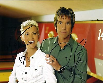 Roxette Genuine Hand Signed, 8x10 Photo Comes With COA