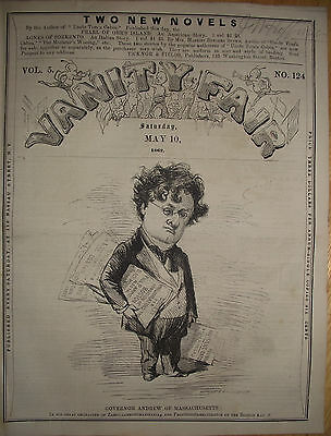1862 Extremely Rare Vanity Fair ~ Governor John Andrew Of Mass.~ Windham Maine