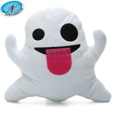 Cuscino Morbido Peluche Emoji Emoticon New Faccina Fantasmino Fantasma Whatsapp
