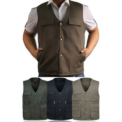 Yes Photography Working Mens Multi Pockets Casual Vest Outdoor Jackets Y2R3
