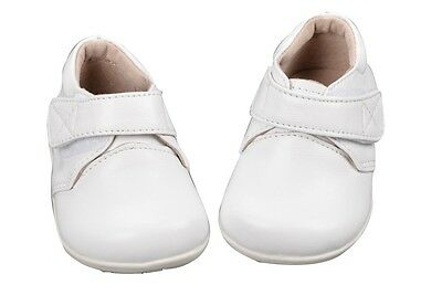 Baby Boys Christening/Party Leather Shoes Formal NB-3Y in White or Black 7304