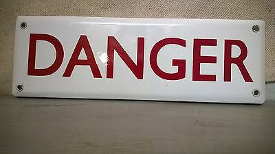 Original 50s Enamel DANGER sign from a Mental Hospital