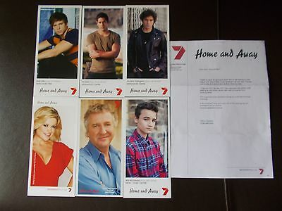 Home And Away Tv Soap Unsigned Fan Cards X 6