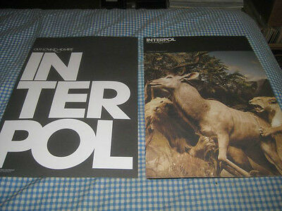 INTERPOL-(our love to admire)-1 POSTER-2 SIDED-11X17-NMINT-RARE