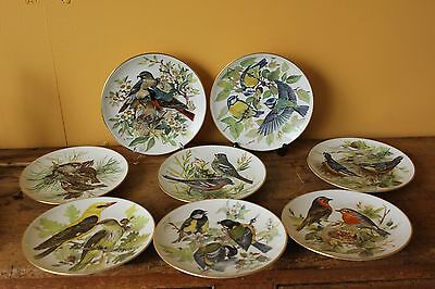 Set of eight bird plates.  WWF Collector plates. Germany.
