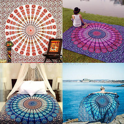 Queen Hippie Indian Tapestry Wall Hanging Mandala Throw Bedspread Yoga Mat Decor