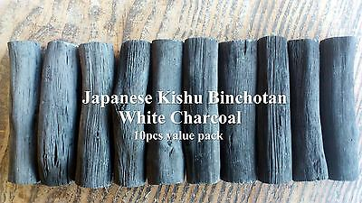 Japanese Kishu Binchotan White Charcoal for purifying tap water 10pcs value pack