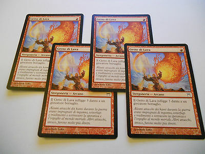 4x MTG Getto di Lava-Lava Spike Magic EDH COK Kamigawa ITA-ING x4