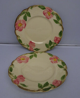 "Franciscan Desert Rose 2 Bread and Butter Plates 6 3/8"" USA"