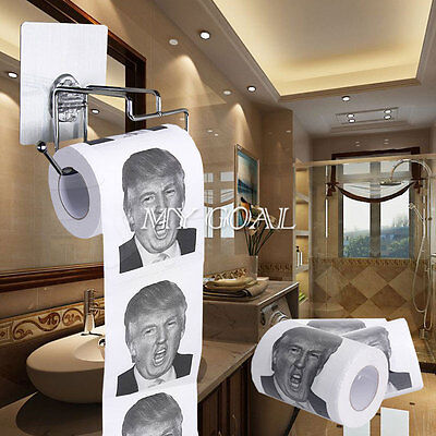 Donald Trump Toilet Paper Roll Presidential Candidate Funny Gag Novelty Gifts