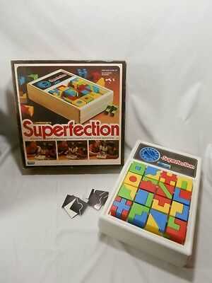 1975 Vintage Lakeside's Superfection Puzzle Shape Timer Game 100% Complete!