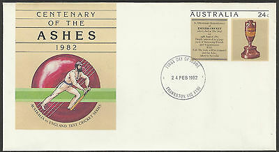 AUSTRALIA ASHES 1982 CRICKET PSE Pre Stamped FIRST DAY PMK FRANKSTON Vic