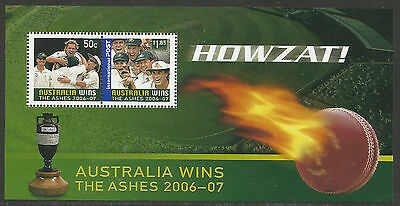 AUSTRALIA 2007 ASHES VICTORY 2006/07 Series S/Sheet MNH.