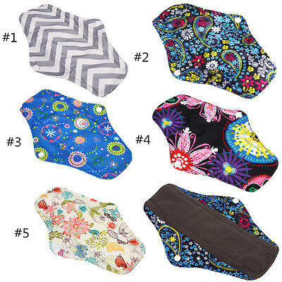 3pcs Charcoal Bamboo Cloth Reusable Washable Menstrual Pads Sanitary Pads JSJS