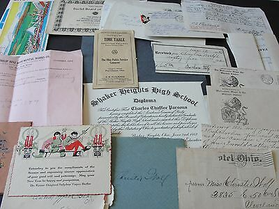 Lot of(18)Papers ,Documents, Business Letters ,Family Letters, ets,1914-1970s
