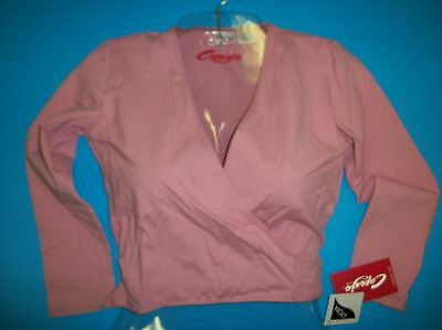 CAPEZIO  Cotton Classics  Lycra Wrap Cover Up Top Deep Rose CC850 Warm Up CC850