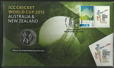 AUSTRALIA 2015 ICC CRICKET WORLD CUP Limited Edition PNC FDC.