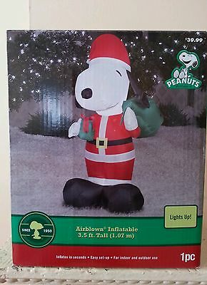 christmas yard decoration air blowup santa snoopy - Snoopy Blow Up Christmas Decorations