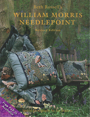 NEW William Morris Needlepoint Book by Beth Russell.   Revised Edition