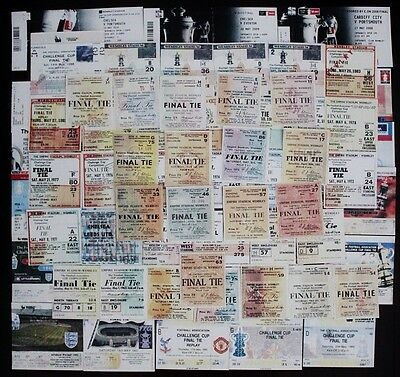 FA Cup Final Tickets 1946 - 2010 Full Set Includes Replays