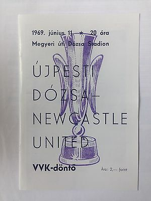 1969 Inter Cities Fairs Cup Final Programme Ujpesti Vs Newcastle United UEFA Cup