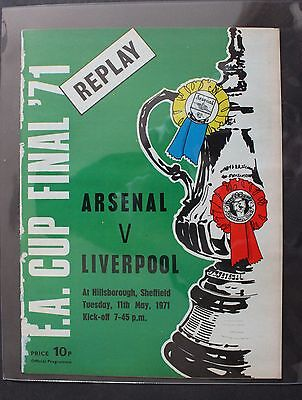 1971 FA Cup Final Replay Programme Arsenal vs Liverpool Never Played !!