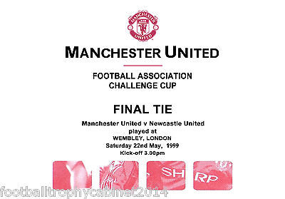 1999 FA Cup Final Itinerary For Officials Manchester United vs Newcastle United