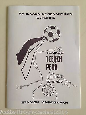 1971 European Cup Winners Cup Final Programme Chelsea vs Real Madrid VIP Version