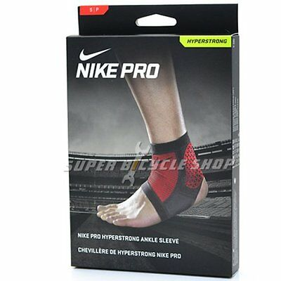 NIKE Pro Combat Hyperstrong Ankle Sleeve , Black x Red