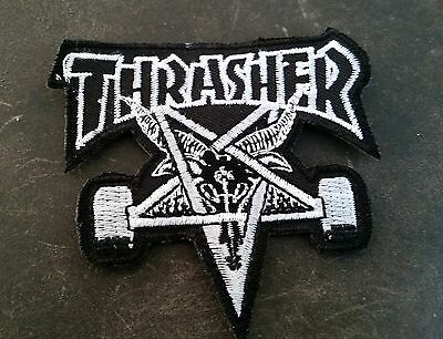 """""""thrasher"""" Embroidered Cloth Patch ... New Skateboard Skate Surfboard Surfing"""