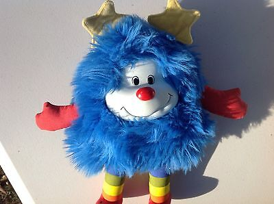"10"" Vintage 1983 Rainbow Brite Blue Champ Sprite Stuffed Animal Plush Toy"