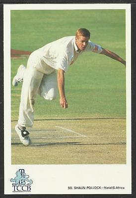 SHAUN POLLOCK -- SOUTH AFRICA. OFFICIAL TCCB  POSTCARD No. 50.