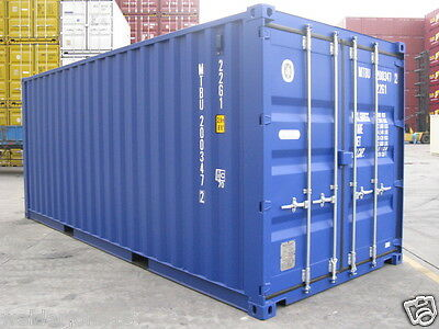 Shipping Containers 20 Ft New 2016 Ral 5010 Sat South Depot- New One Trip