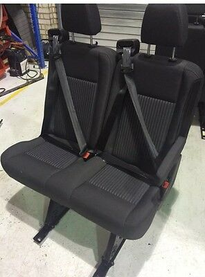 Transit Removable Double Seat - With Seat Belts & Rails