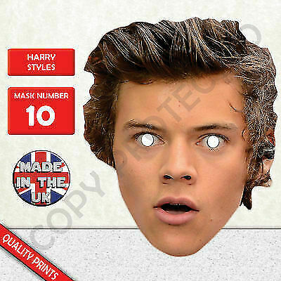 Harry Styles One Direction Celebrity Singer Card Face Mask!