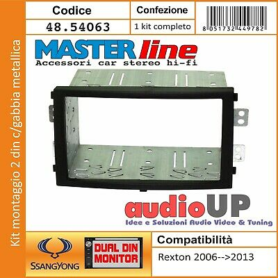 Mascherina Autoradio 2 Din In Kit Ssangyong Rexton 2006 Al 2013 Kit Installation