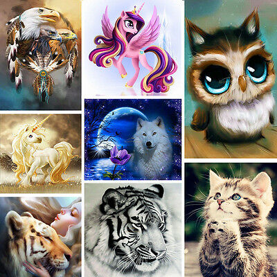 DIY 5D Tiger Wolf Horse Embroidery Diamond Painting Cross Stitch Hanging Decor