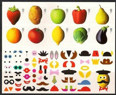 Gb Mnh Stamp Set 2003 Fruit & Veg With Stickers Sg 2348-2357 10% Off Any 5+