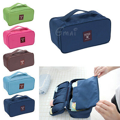 Travel Portable Storage Bag Box Protect Bra Organizer Container Underwear Case