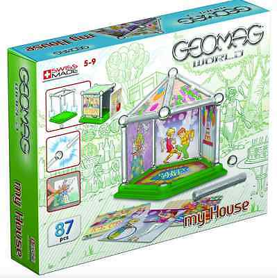 GEOMAG WORLD 87pc MY HOUSE Party Time Magnetic Construction Kit NEW Swiss Made