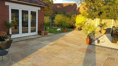 Midsummer Buff Premium Indian Sandstone Patio Paving Slabs Stone 19.5m2 Pack