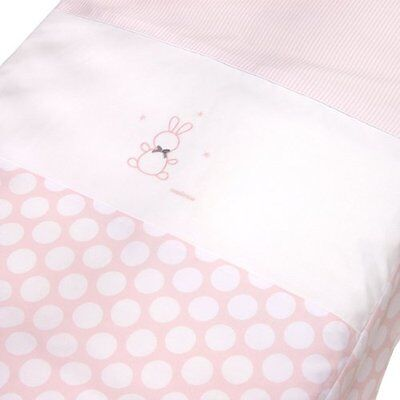 Cambrass 60 x 120 cm Cot Quilt/ Bedspread Collection Ter (Pink and White Spotted